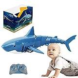 N/Z Juguete de barco de tiburón teledirigido para niños, 2,4 GHz, juguete eléctrico recargable,...