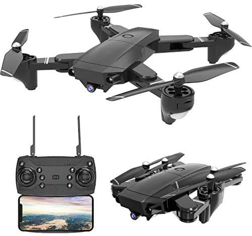 TuKIIE Drone with Camera 4K Foldable RC Quadcopters 1080P SX20 2.4GHz Remote/Phone/Tablet Controlled RTF Multirotors with 120° Wide-Angle Full HD Camera Video Headless RTH 360° Flip