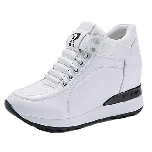 Zapatos Casuales para Mujer Resistentes al Desgaste Resistentes al Agua con Plataforma Baja Zapatillas cómodas para Caminar con tacón Oculto con cuña para Mujer