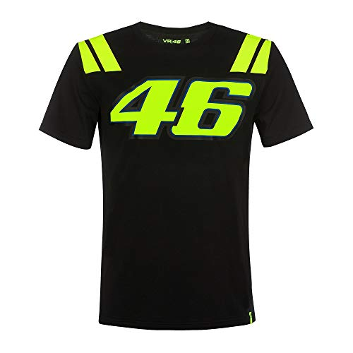 Valentino Rossi Vr46 Classic-Race T-Shirt für Herren, Schwarz, XL