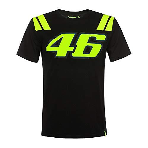 Valentino Rossi Vr46 Classic-Race, Herren-T-Shirt, Schwarz, XL
