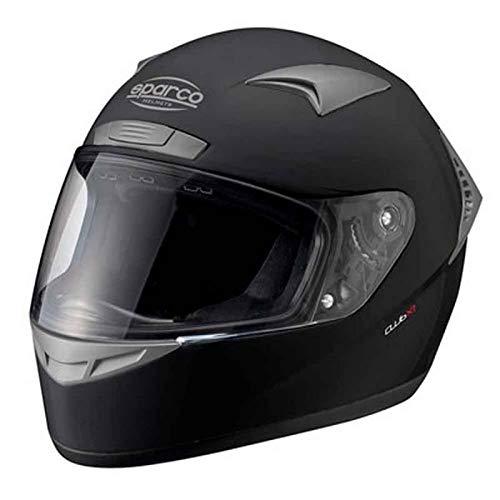 Nero//Rosso Sparco Riders 83949 Casco Moto Demi Jet Taglia XS