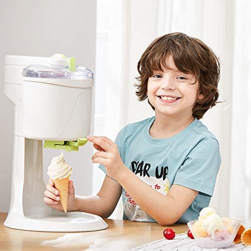 FMXYMC Máquina para Hacer Helados de Bricolaje, máquina para Hacer Helados Suave portátil, máquina para Hacer Helados de Frutas casera, Hacer deliciosos sorbetes de Helado y Yogur Helado