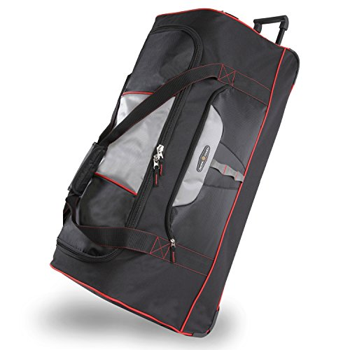 """Pacific Coast Signature 35"""" Extra Large Rolling Duffel Bag, Black, One Size"""