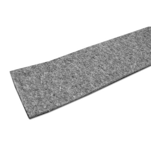"""Heavy Duty/Industrial Felt Stripping with Adhesive (F7 PSA-1/2"""" x 50'), 1/4 in"""