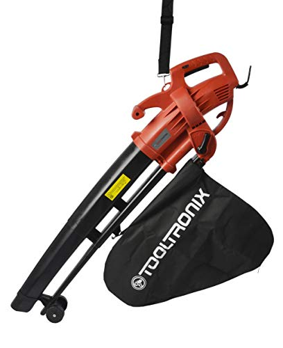 Laptronix 3 in 1 Electric Leaf Blower 2800W Garden Vacuum with Mulcher 35 Litre Collection Bag 10:1 Shredding Ratio, Automatic Mulching Compacts Leaves in Bag with 10m Cable