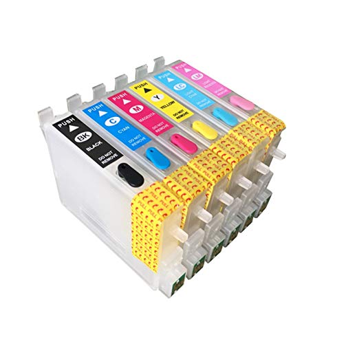 WSCHENG Cartuchos de Tinta 6PCS para EPSON Stylus Photo R200 R220 R210 R230 R310 T048 T049