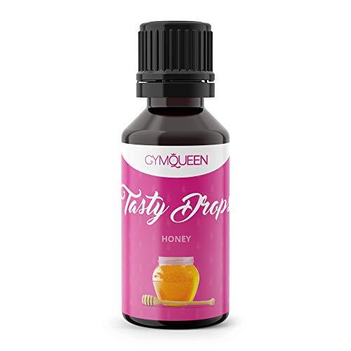 GymQueen Tasty Drops 30ml | Kalorienfreie, Zuckerfreie und Fettfreie Flavour Drops | Aroma Tropfen zum Süßen von Lebensmitteln | Geschmackstropfen ohne Künstliche Farbstoffe I Honig