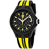 Ferrari Men's 0840001 Pit Crew Analog Display Quartz Black Watch