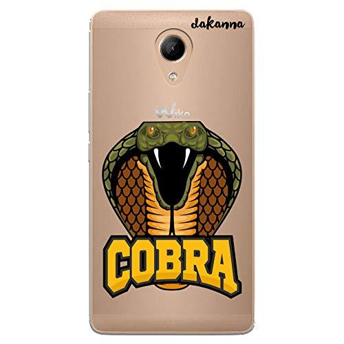 dakanna Funda Compatible con [Wiko Robby] de Silicona Flexible, Dibujo Diseño [Serpiente y Frase Cobra], Color [Fondo Transparente] Carcasa Case Cover de Gel TPU para Smartphone