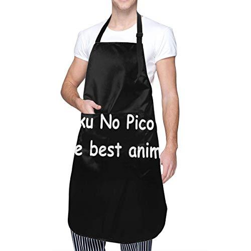 Boku No Pico es el Mejor Delantal de Cocina de Anime con Bolsillo para Hombres y Mujeres