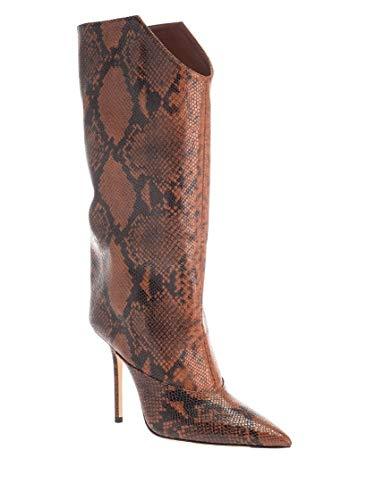 JIMMY CHOO Luxury Fashion Donna BRYNDIS100NKECUOIO Marrone Pelle Stivali | Autunno-Inverno 19