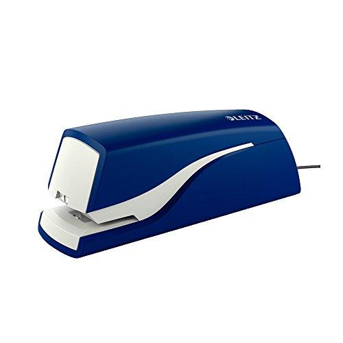 Leitz Elektrisches Büroheftgerät für 10 Blatt, Netzbetrieb, Inkl. Heftklammern, Blau, NeXXt-Serie, 55320035