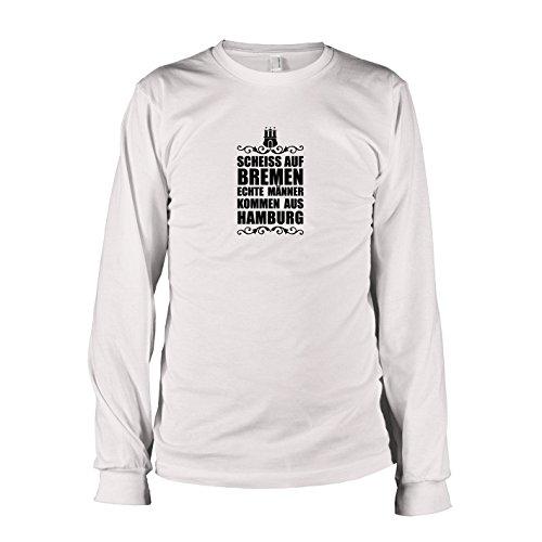 Texlab - Scheiss auf Bremen - Langarm T-Shirt, Herren, Größe S, weiß