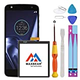 Moto Z Droid Force Battery, 3500mAh Li-Polymer Built-in Battery SNN5968A GV40 Replacement for Motorola Moto Z Droid Force XT1650 with Repair Tool Kits.[12 Month Warranty]
