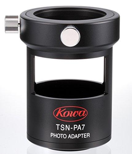 Kowa TSN-PA7 - Adaptador para digiscoping Que Permite acoplar cámaras réflex, Color Negro