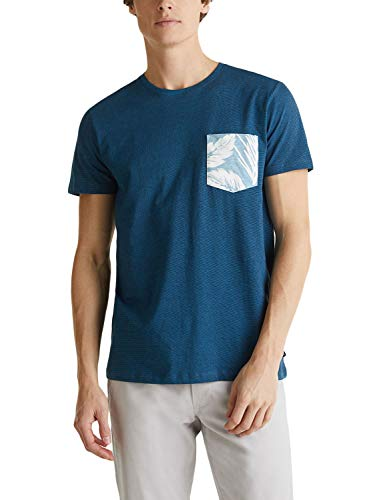 ESPRIT Herren 030EE2K305 T-Shirt, 452/PETROL Blue 3, 3XL