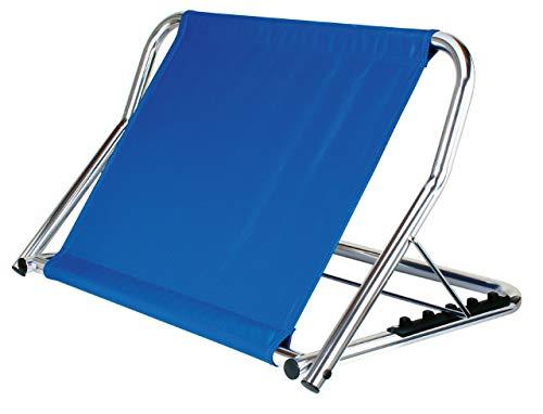 GAH-Alberts 140847 Rückensütze - Gestell: Aluminium, Rückenlehne: blaues Nylongewebe, 480 x 700 x 470 mm
