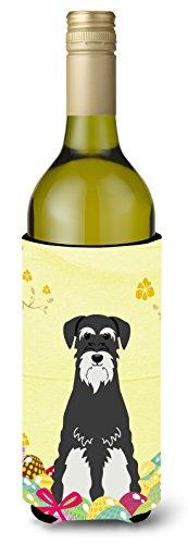 Caroline 's Treasures bb6033literk Ostern Schnauzer Salz Pfeffer Wein Flasche Getränk, Isolator Hugger, 750ml, multicolor