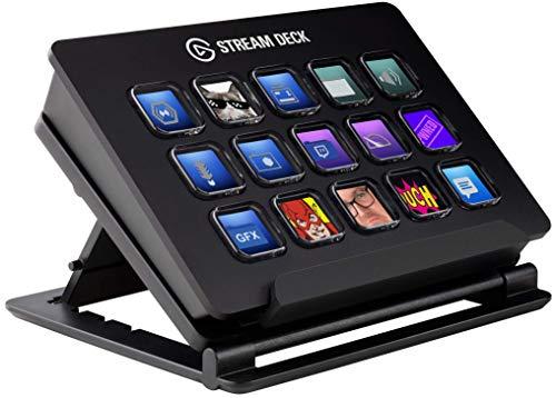 Elgato Stream Deck - Controlador para contenido en directo, 15 teclas LCD personalizables, soporte ajustable, Windows 10… 12
