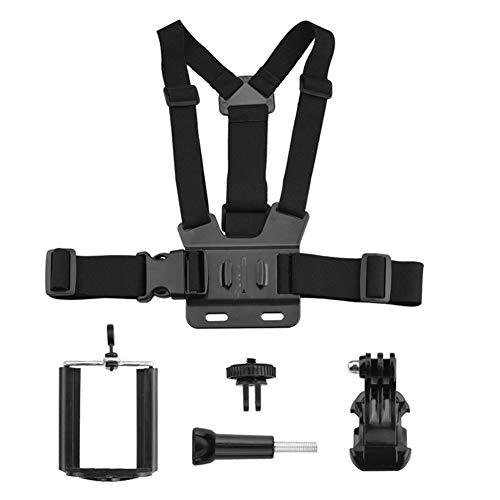 POHOVE Smartphone Brusthalterung, universeller Brustgurt für Sony Action Cam/Gopro Sportkamera/für SJCAM Kamera