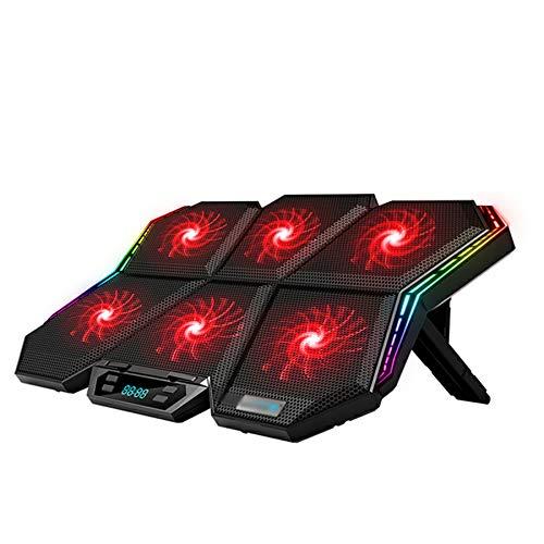 Xbd Refrigerador portátil,Base de Refrigeración para Ordenador Portátil Ultra silencioso,Compatible con 11'-17.3',con Luces RGB y 2 Puertos USB,Enfriador para laptops Gaming