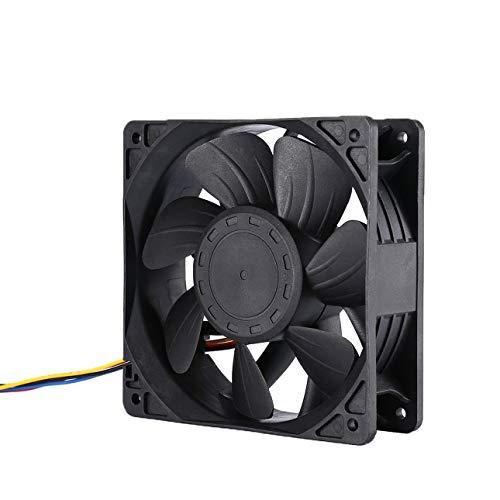 Ba30DEllylelly 7500 TR/Min DC12V 5.0A Ventilateur de Refroidissement pour Mineur pour Antminer Bitmain S7 S9 connecteur à 4 Broches Refroidisseur de Remplacement sans Brosse à Faible Bruit