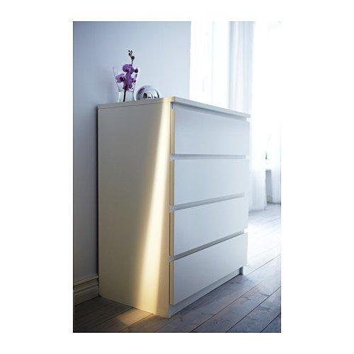 IKEA(イケア) MALM ホワイト 80214554 チェスト(引き出し×4)、ホワイト