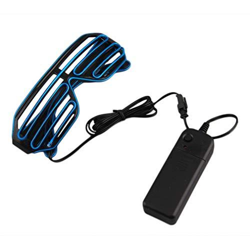Leicht zu tragen Reit LED Brille leuchten Shades Flashing Rave für Hochzeitsfest Indoor Outdoor Abendshows Aktivitäten (blau) DEjasnyfall
