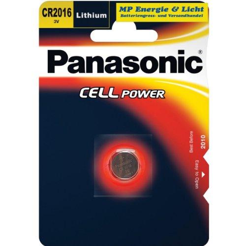 Panasonic CR2016 Lithium Knopfzelle, 3V, 2er Pack, 2B/3605/70
