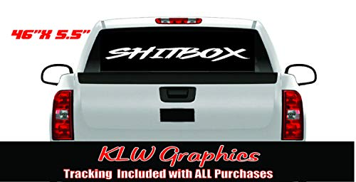 SHITBOX Windshield Banner Certified 4x4 Stickers Turbo Diesel Truck Funny Off Road