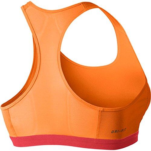 NIKE Damen W NP Fierce Bra Sport-Bh mit Mittlerem Halt, orange (Bright Citrus/Lt Crimson), XS, 620279-811