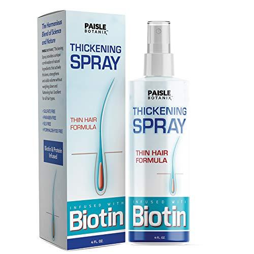 Biotin Thickening Spray for Fine Hair Growth Serum Hair Loss Prevention Treatments Dht Blocker Volume Spray Tonic for Thinning Hair Volumizing Texturizing Spray Thickening Products for Men Women