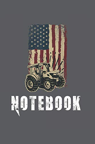 Notebook: Bauer mit Traktor, Bauernhof Notizbuch. Ein Taschenbuch A5 mit 108 karierte Seiten. Ein Motiv für Landwirte, Bauern, Bäuerin, Traktor ... Männer, Mädchen und Jungen. Cooles Motiv.