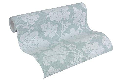 A.S. Création Vliestapete Elegance Tapete floral 10,05 m x 0,53 m blau weiß Made in Germany 305193 30519-3