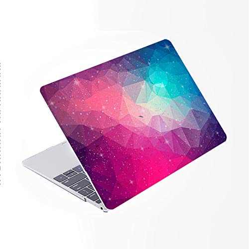 SDH Newest for MacBook Pro 13 inch Case 2020 Release Touch Bar & ID Model: A2338/A2289/A2251, Plastic Pattern Hard Shell & Laptop Sleeve Bag & Keyboard Cover Skin 4 in 1 Bundle, Starry Sky 2
