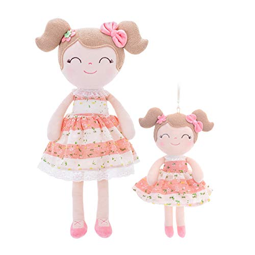 Gloveleya Baby Doll Girl Gifts Toys Rag Dolls Plush Toy Soft Spring Girls Gift Boxes - Pink [One Big...