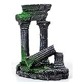 ZYDX Decoración de Acuario, Columna Romana Antigua, Ruinas, Castillo Europeo, Decoraciones de Acuario, Pecera, Escondite, Rocas, Decoración de Acuario, Decoración de Vivero