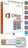MS Office 2019 Professional Plus USB Stick - 32 / 64 Bit - Lizenz Key - Produktschlüssel - 1 Aktivierung / 1 PC + Anleitung von U-S-B Unleashed-Shop-Bolt®