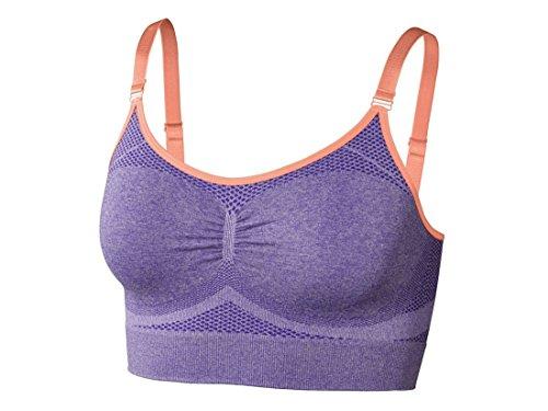 Damen Fitness-Seamless-Sport-Bustier High Level Seamless Lila L 44-46