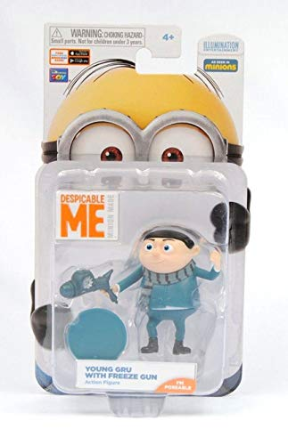 Minions Despicable Me Young Gru with Freeze Gun Poseable Action Figure