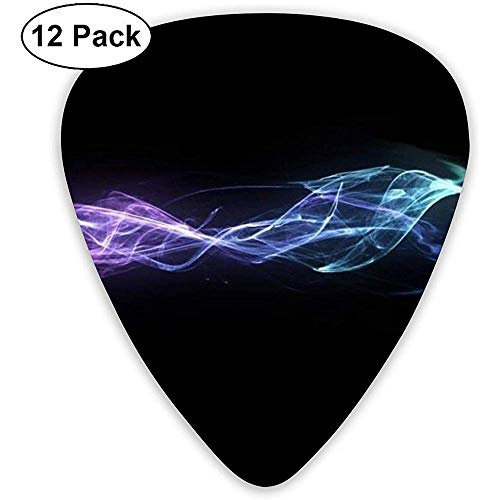 Abstract Bullet Wave Gitaar Pick Set Gitaar Bass Mandoline Ukelele 0,46 mm 0,71 mm 0,96 mm 12 Pack gitaar Picks plectrums Holder
