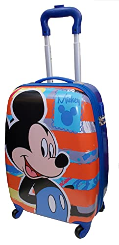 Disney Topolino Mickey Mouse D97771 Valigia per Bambini Trolley da Cabina, 54 Centimetri