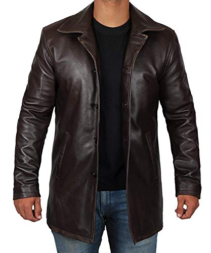 Blingsoul Brown Leather Jacket Men - Distressed Leather Jackets for Men | [1500034] Super Brown, L