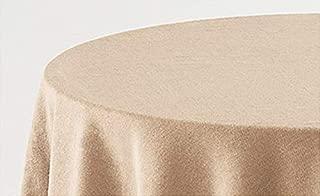 HIPERMANTA Falda Mesa Camilla Redonda Lisa Tacto Suave 100% Poliéster. Tamaño diámetro 70 cm - 213 cm, Beige.