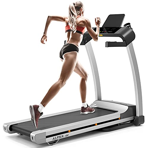 MKHS folding treadmill for Home with LED Display, Tablet &...