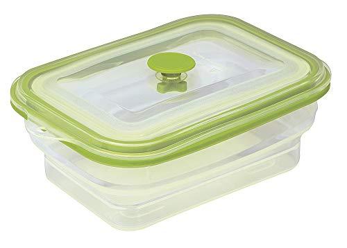 ISI Flexline Faltbare Silikondose Frischhaltedose Mikrowellendose, 800 ml, rechteckig