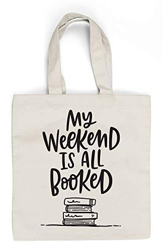 FOLIO My Weekend is all booked, bolsa de lona para regalo de gusano, divertido regalo de libro literario, regalo de lector, regalo para profesor.