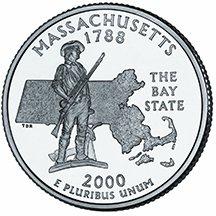 2000 D Massachusetts State Quarter Choice Uncirculated