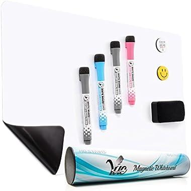 Magnetic White Board for Fridge, Dry Erase Reminder Board, Magnetic Whiteboard for Refrigerator, Kitchen Whiteboard